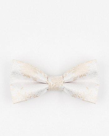 Tonal Floral Print Microfibre Bow Tie