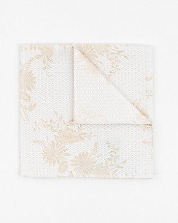 Tonal Floral Print Microfibre Pocket Square