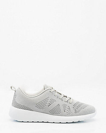 Mesh-Knit Lace-Up Sneaker