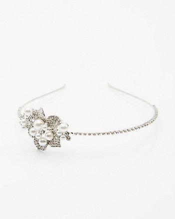 Gem & Pearl-like Headband