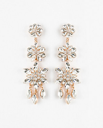 Floral Gem Chandelier Earrings