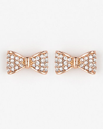 Bow Gem Stud Earrings