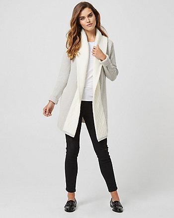 Manteau de tricot en mélange de laine