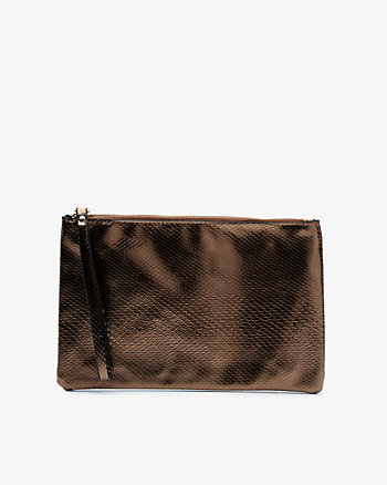 Snake Embossed Cosmetic Pouch
