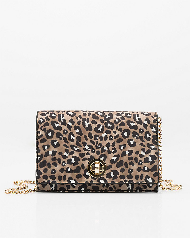 711d1cf9 LE CHÂTEAU: Leopard Print Crossbody Bag