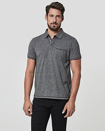 Tonal Cotton Blend Polo Shirt