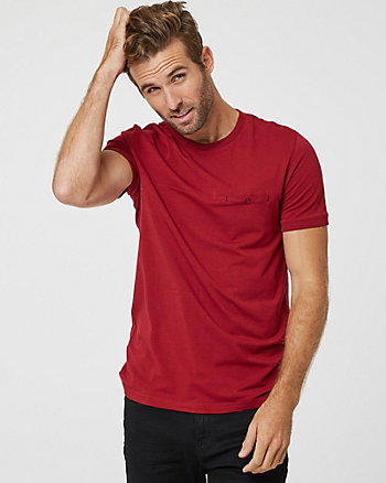 Cotton Blend Slim Fit Crew Neck T-Shirt