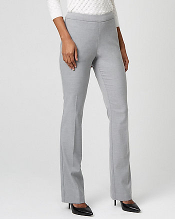 Viscose Blend Slight Flare Leg Trouser