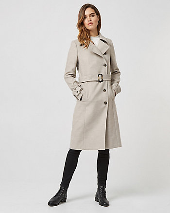 Cashmere-like Asymmetrical Coat