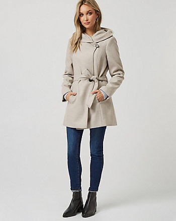 Cashmere-like Asymmetrical Wrap Coat