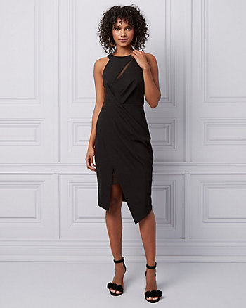 Halter Asymmetric Cocktail Dress