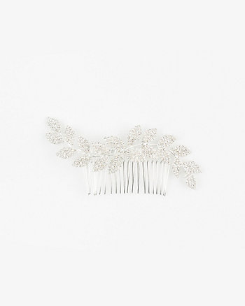 Gem Leaf Hair Comb
