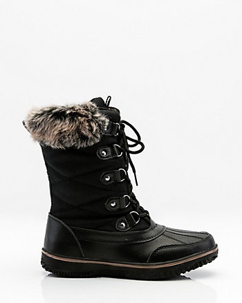 Round Toe Lace-Up Winter Boot