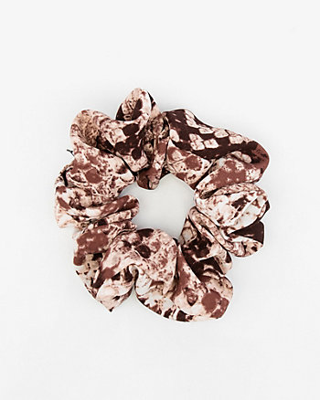 Snake Print Pleated Scrunchie