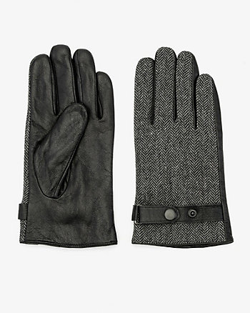 Leather & Tweed Gloves