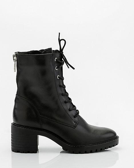 Leather Lace-Up Combat Boot | LE CHÂTEAU