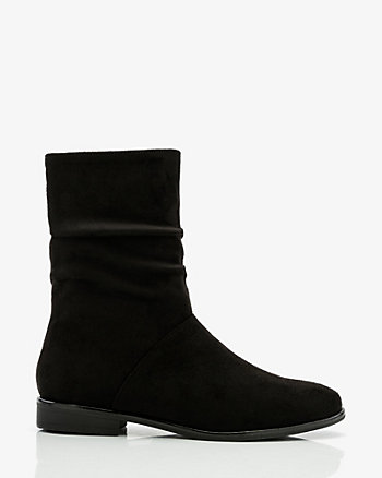 Almond Toe Slouch Ankle Boot