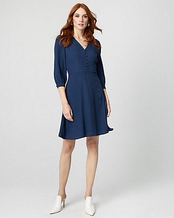 Viscose V-Neck Tunic Dress