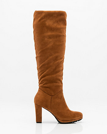 Almond Toe Knee High Slouch Boot