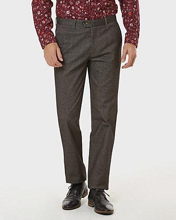 Tonal Tweed Slim Leg Pant
