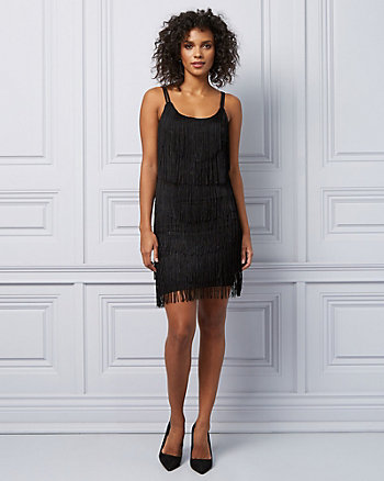 Knit Fringe Cocktail Dress