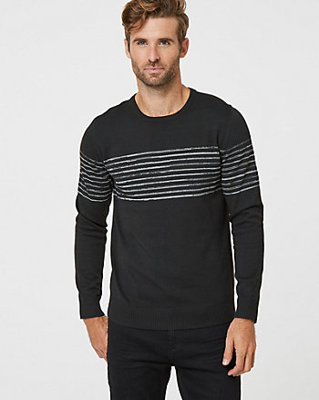 Tonal Space Dye Crew Neck Sweater
