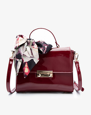 Patent Leather-Like Satchel