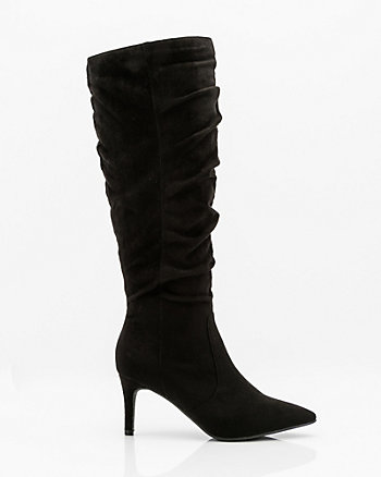 Pointy Toe Knee High Boot