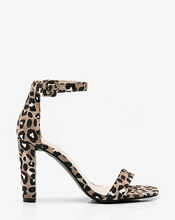 Leopard Print Ankle Strap Sandal
