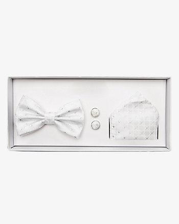 Bow Tie, Pocket Square & Cufflinks Set