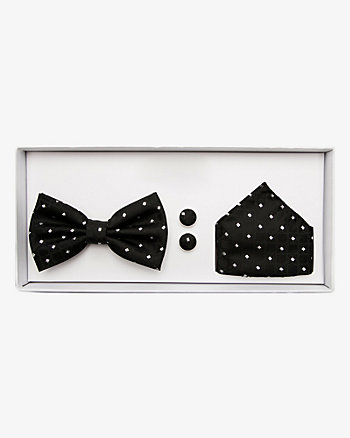 Bow Tie, Pocket Square & Cufflinks Set