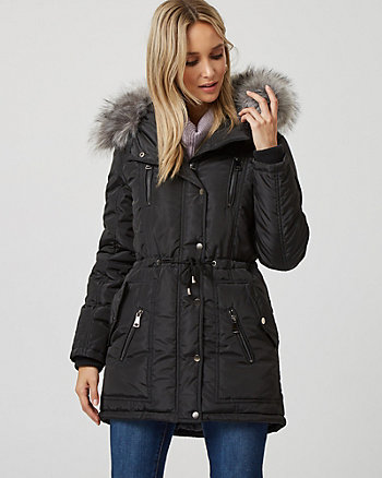 Fur Trim Hooded Anorak