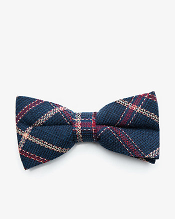 Check Print Cotton Bow Tie