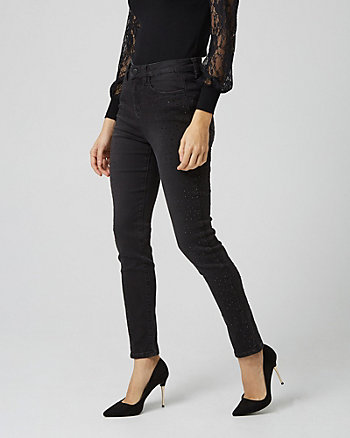 Embellished Skinny Leg Denim Pant