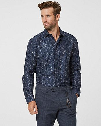 Chemise de coupe ajustée à motif cachemire