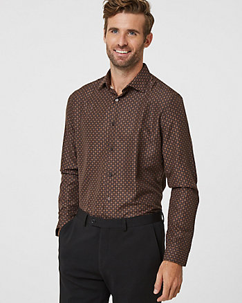 Medallion Print Athletic Fit Shirt