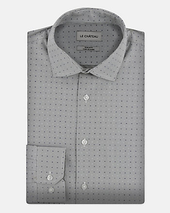 Stripe Cotton Blend Regular Fit Shirt