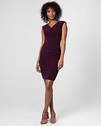 Knit Cowl Neck Dress
