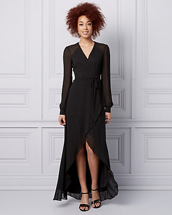 Chiffon Wrap-Like Gown