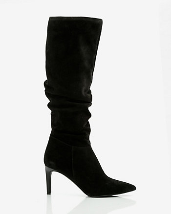 Italian-Designed Suede Slouch Boot