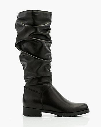 Italian-Designed Leather Knee-High Boot