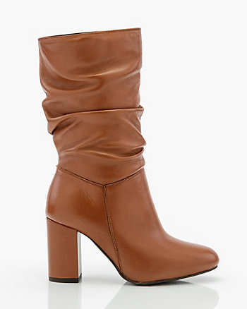 Italian-Designed Leather Slouch Boot