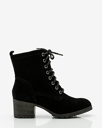 Suede Lug Sole Ankle Boot
