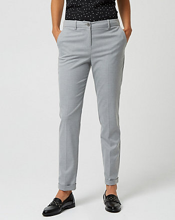 Viscose Blend Tapered Leg Trouser