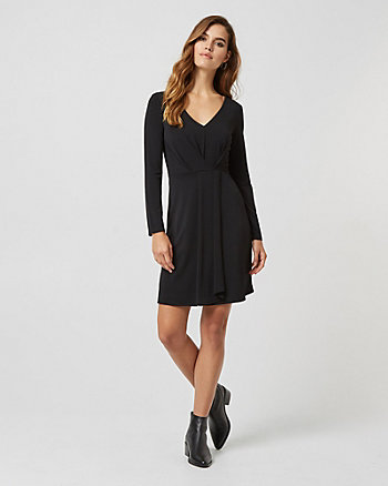 Wrap-like Fit & Flare Dress