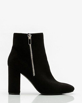 Square Toe Block Heel Ankle Boot