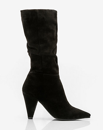 Suede Knee-High Slouch Boot