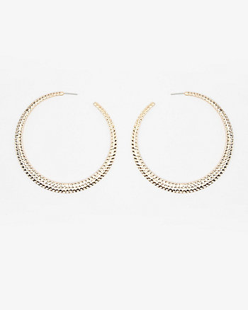 75mm Metal Hoop Earrings