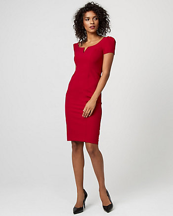 Woven Scoop Neck Dress