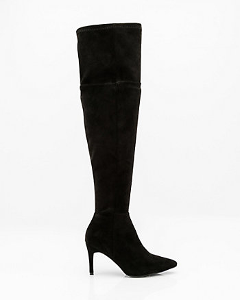 Pointy Toe Thigh High Stretch Boot